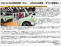 BYD & DiDi配車専用「D1」、1日400台製造、すでに営業投入のキャプチャー