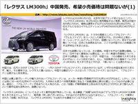 「レクサス LM300h」中国発売、希望小売価格は問題ないがのキャプチャー