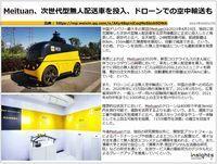 Meituan、次世代型無人配送車を投入、ドローンでの空中輸送ものキャプチャー
