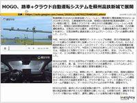 MOGO、路車+クラウド自動運転システムを蘇州高鉄新城で展開のキャプチャー