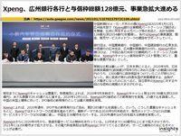 Xpeng、広州銀行各行と与信枠総額128億元、事業急拡大進めるのキャプチャー