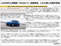 LG化学が上海製造「Model Y」全量供給、CATL推し中国が反論のキャプチャー