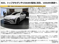 NIO、トップがセダンや150kWh電池に言及、100kWh発表へのキャプチャー
