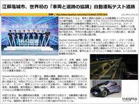 江蘇塩城市、世界初の「車両と道路の協調」自動運転テスト道路のキャプチャー
