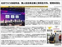 北京でICV技術年会、無人配送車企業に資格を付与、管理本格化のキャプチャー