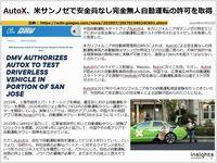 AutoX、米サンノゼで安全員なし完全無人自動運転の許可を取得のキャプチャー
