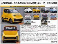 上汽GM五菱、大人気の宏光miniEVに続く2シーターミニEV発表のキャプチャー