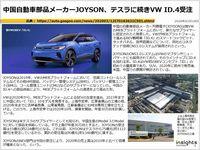 中国自動車部品メーカーJOYSON、テスラに続きVW ID.4受注のキャプチャー