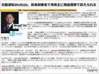 自動運転WeRide、前身創業者で現株主に権益侵害で訴えられるのキャプチャー