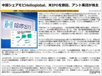 中国シェアモビHelloglobal、米IPOを撤回、アント集団が株主のキャプチャー