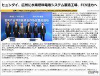 ヒュンダイ、広州に水素燃料電池システム製造工場、FCV注力へのキャプチャー