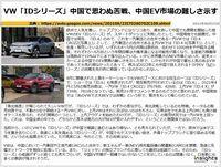 VW「IDシリーズ」中国で思わぬ苦戦、中国EV市場の難しさ示すのキャプチャー
