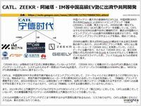 CATL、ZEEKR・阿維塔・IM等中国高級EV勢に出資や共同開発のキャプチャー