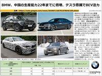 BMW、中国の生産能力22年までに倍増、テスラ意識でBEV注力のキャプチャー