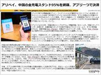 アリペイ、中国の全充電スタンド95%を網羅、アプリ一つで決済のキャプチャー