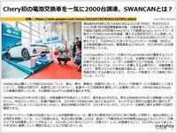 Chery初の電池交換車を一気に2000台調達、SWANCANとは?のキャプチャー