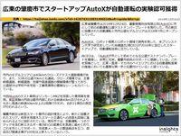 広東の肇慶市でスタートアップAutoXが自動運転の実験認可獲得のキャプチャー