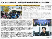 バイドゥが戦略提携、湖南長沙市を自動運転シティとして構築へのキャプチャー