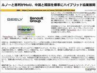 ルノーと吉利がMoU、中国と韓国を照準にハイブリッド協業展開のキャプチャー