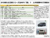 BYD新たな王朝シリーズはMPV「夏」? 21年成都MSで発表かのキャプチャー