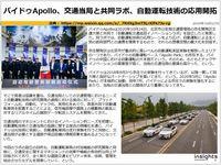 バイドゥApollo、交通当局と共同ラボ、自動運転技術の応用開拓のキャプチャー