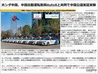 ホンダ中国、中国自動運転新興AutoXと共同で中国公道実証実験のキャプチャー