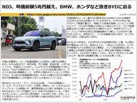 NIO、時価総額5兆円越え、BMW、ホンダなど抜きBYDに迫るのキャプチャー