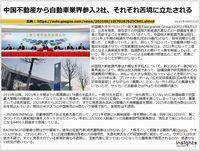 中国不動産から自動車業界参入2社、それぞれ苦境に立たされるのキャプチャー