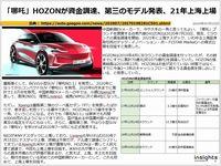 「哪吒」HOZONが資金調達、第三のモデル発表、21年上海上場のキャプチャー