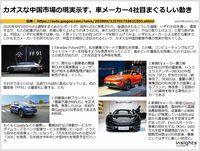カオスな中国市場の現実示す、車メーカー4社目まぐるしい動きのキャプチャー
