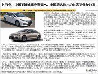 トヨタ、中国で姉妹車を発売へ、中国語名称への対応で分かれるのキャプチャー