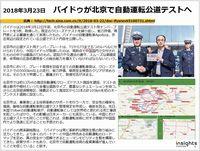 2018年3月23日 バイドゥが北京で自動運転公道テストへのキャプチャー