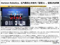 Horizon Robotics、広汽集団と次世代「征程3」、征程2も好調のキャプチャー
