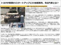 トヨタが新興EVスタートアップにEV技術販売、奇点汽車とは?のキャプチャー