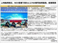 上海臨港新区、NEV産業で新たに2700億円投資獲得、産業集積のキャプチャー