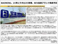 BAONENG、21年にクオロス5車種、BEV高級ブランド発表予定のキャプチャー