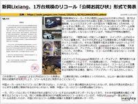 新興Lixiang、1万台規模のリコール「公開お詫び状」形式で発表のキャプチャー