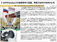 トヨタがGeelyとHV技術供与で協議、現地ではNEV合弁かとものキャプチャー