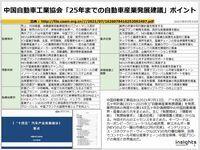 中国自動車工業協会「25年までの自動車産業発展建議」ポイントのキャプチャー