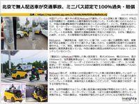 北京で無人配送車が交通事故、ミニバス認定で100%過失・賠償のキャプチャー