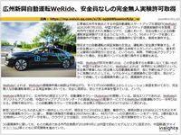 広州新興自動運転WeRide、安全員なしの完全無人実験許可取得のキャプチャー