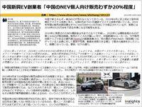 中国新興EV創業者「中国のNEV個人向け販売わずか20%程度」のキャプチャー