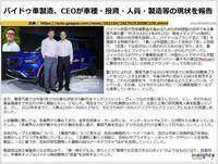 バイドゥ車製造、CEOが車種・投資・人員・製造等の現状を報告のキャプチャー