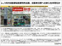 レノボが自動運転関連特許出願、自動車分野への参入を本格化かのキャプチャー