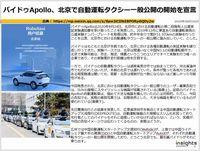 バイドゥApollo、北京で自動運転タクシー一般公開の開始を宣言のキャプチャー