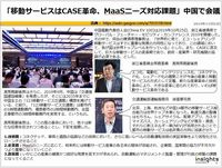 「移動サービスはCASE革命、MaaSニーズ対応課題」中国で会議のキャプチャー