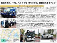 武漢で東風、一汽、バイドゥ等「5G+北斗」自動運転車イベントのキャプチャー