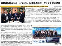 自動運転Human Horizons、日本拠点開設、アイシン等と提携のキャプチャー