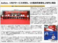 Aulton、C向けサービス本格化、UX電池交換場を上海市に開設のキャプチャー