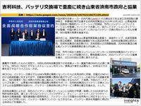 吉利科技、バッテリ交換場で重慶に続き山東省済南市政府と協業のキャプチャー